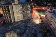 Surfside Condominium after collapse